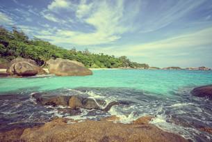 Vintage style summer sea in Thailandの写真素材 [FYI00794807]