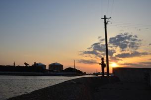 大阪高石市石津漁港の写真素材 [FYI00794985]
