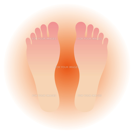 足の裏 温かいのイラスト素材 [FYI00795115]