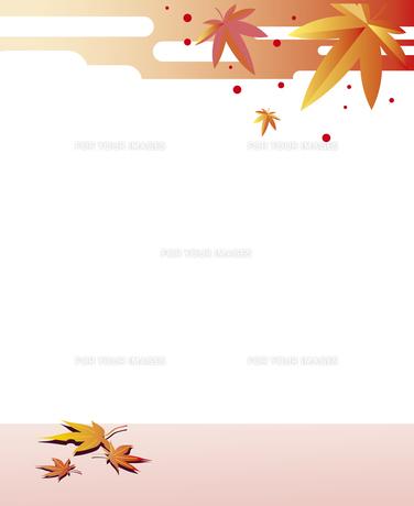 和風な秋の背景のイラスト素材 [FYI00795461]
