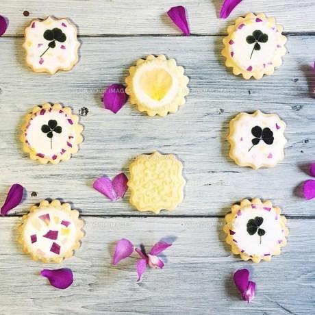 可愛いアイシングクッキーの写真素材 [FYI00795752]