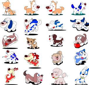 犬20匹のイラスト素材 [FYI00795823]