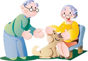 老人と犬のイラスト素材 [FYI00795979]