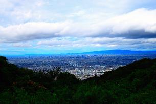 山頂からの大阪の街並みの写真素材 [FYI00796449]