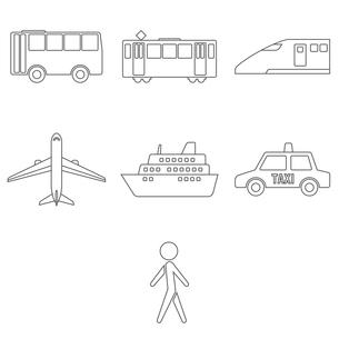 乗り物 交通手段のイラスト素材 [FYI00796510]