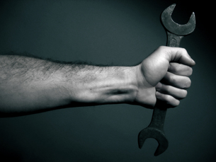 hand and wrenchの写真素材 [FYI00797150]