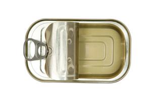 empty sardine cannedの写真素材 [FYI00797264]