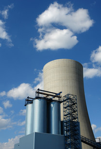 cooling tower constructionの写真素材 [FYI00797411]