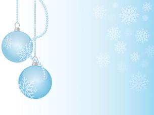 christmas ball with snowflakesの素材 [FYI00797738]