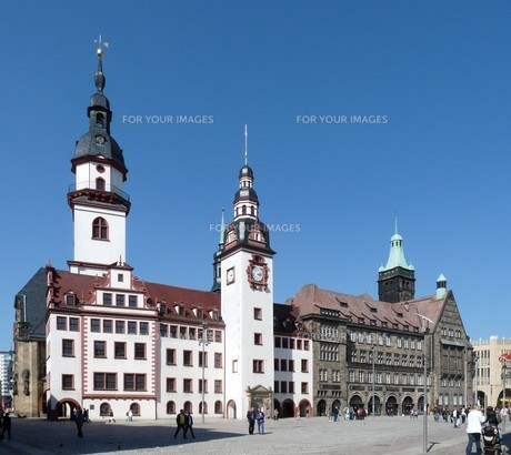 chemnitz,old and new town hallの素材 [FYI00798219]