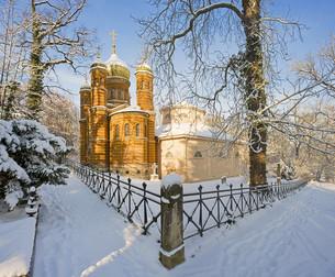 russian orthodox chapel weimarの写真素材 [FYI00798280]