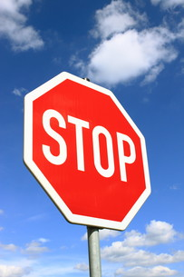 stop sign in germanyの写真素材 [FYI00799542]