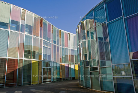modern colorful architectureの写真素材 [FYI00799806]