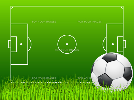 football field and soccerの写真素材 [FYI00799950]