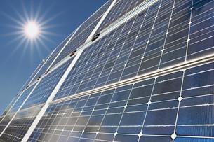 solar collector before bright sunの写真素材 [FYI00799987]