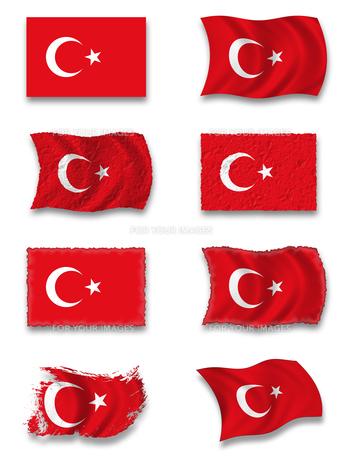 flag of turkeyの写真素材 [FYI00800104]