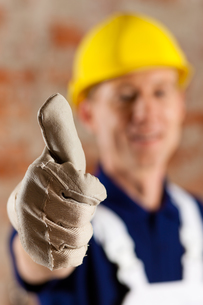 friendly and reliable construction workの写真素材 [FYI00800163]