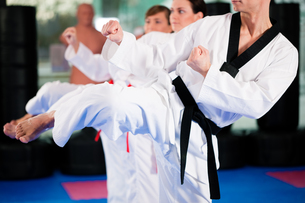 martial arts training in the gymの写真素材 [FYI00800553]
