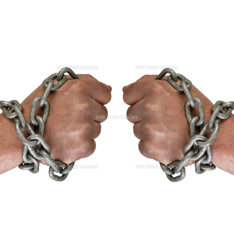 hand with chainの素材 [FYI00800732]