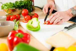 preparation of vegetablesの写真素材 [FYI00800770]