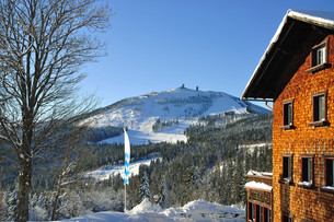 winter at the great arber in the bavarian forestの写真素材 [FYI00800821]