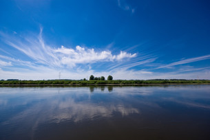 river and blue skyの写真素材 [FYI00801757]