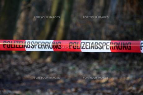 polizeiabsperrungの写真素材 [FYI00801937]