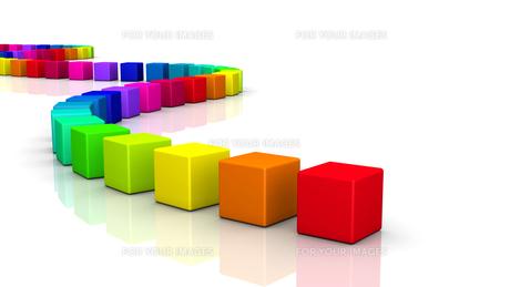3d cube - rainbow serpent 04の写真素材 [FYI00802828]