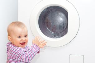 washing machine - easy and environmentally friendlyの写真素材 [FYI00803085]