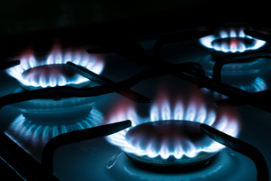gas stove v1の写真素材 [FYI00803490]