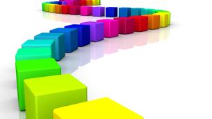 3d cube - rainbow serpent 09の写真素材 [FYI00803831]