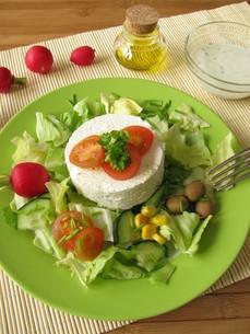 goat cheese on saladの写真素材 [FYI00803862]