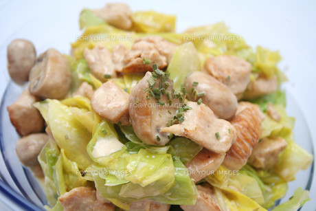 cabbage with chickenの写真素材 [FYI00804404]