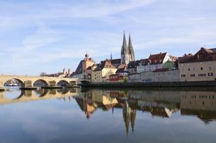 old town of regensburg,germanyの写真素材 [FYI00805025]
