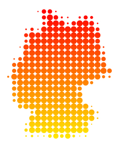 map of germanyの写真素材 [FYI00805378]