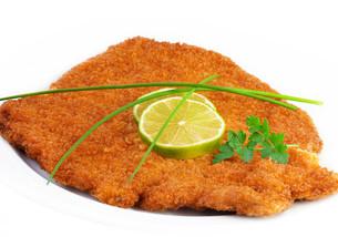 wiener schnitzel (itの写真素材 [FYI00806263]