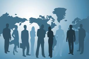 businesspeople and worldmapの素材 [FYI00806502]