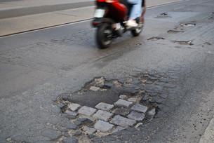 potholes rideの写真素材 [FYI00806519]