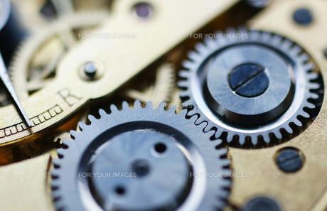 clockwork macro - watch mechanismの写真素材 [FYI00807161]