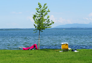 lakeside - holidays at the lakeの写真素材 [FYI00807228]