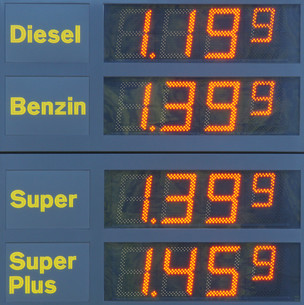 gasoline prices petrol station - at the gas stationの写真素材 [FYI00807255]