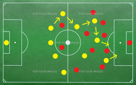 football tactics - soccer tacticsの写真素材 [FYI00807335]
