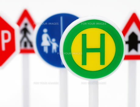 stop & traffic signsの写真素材 [FYI00807343]