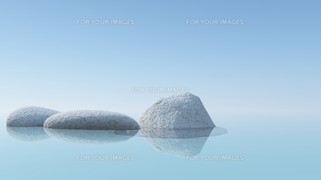stone and rock in the waterの写真素材 [FYI00807760]