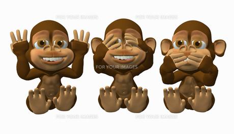 three wise monkeysの素材 [FYI00808047]