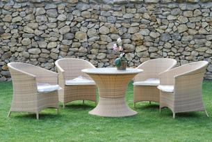 seating rattan garden furniture rattanの写真素材 [FYI00808357]