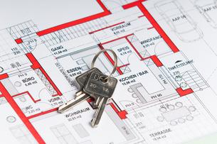 house plan with keyの素材 [FYI00808526]