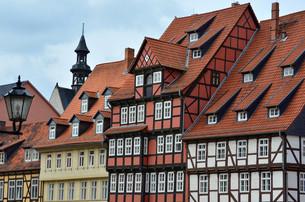 old german houses (quedlinburg,germany)の写真素材 [FYI00808578]