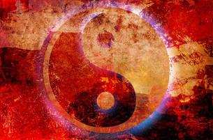 yin and yang - background grungeの素材 [FYI00809944]