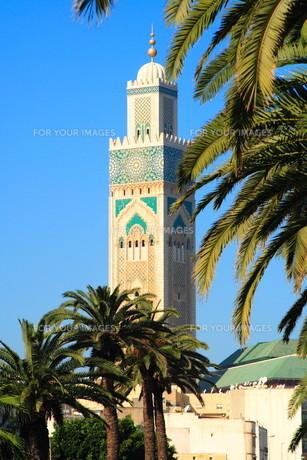 hassan mosque,casablancaの写真素材 [FYI00810319]